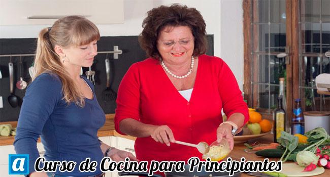 Curso de cocina para principiantes aprendemus cursos online for Cursos de cocina en castellon