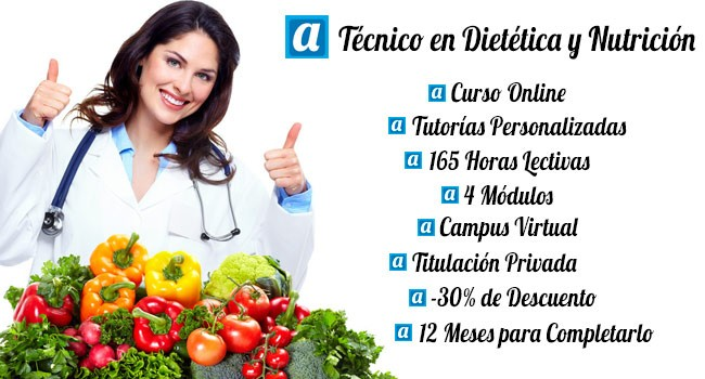 Curso Online de Técnico en Dietética y Nutrición