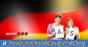 Curso Alemán Online de 12 Meses (Incluye 3 Niveles)